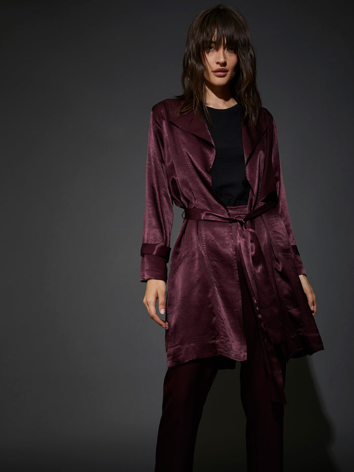 Nation LTD Carmen Trench in Raisin