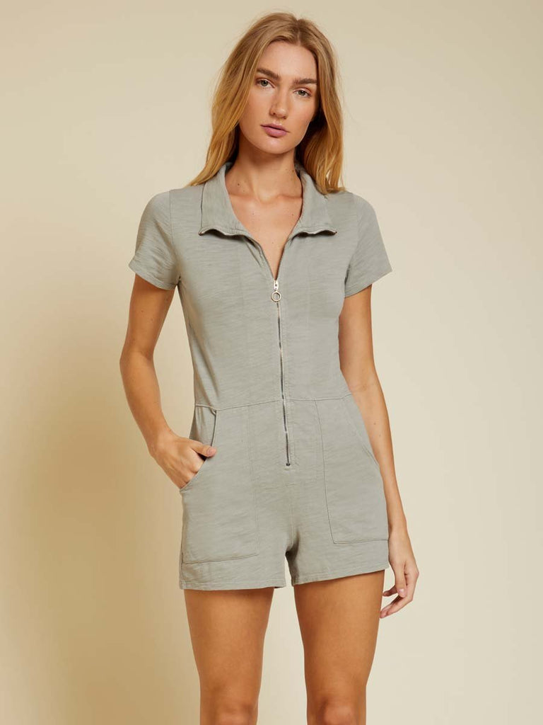 Nation LTD Lex Romper in Dirty Martini