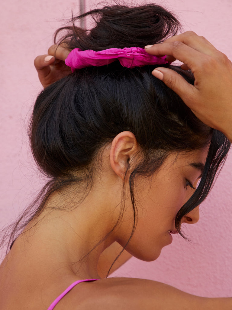 Nation LTD The Scrunchie in Fuchsia