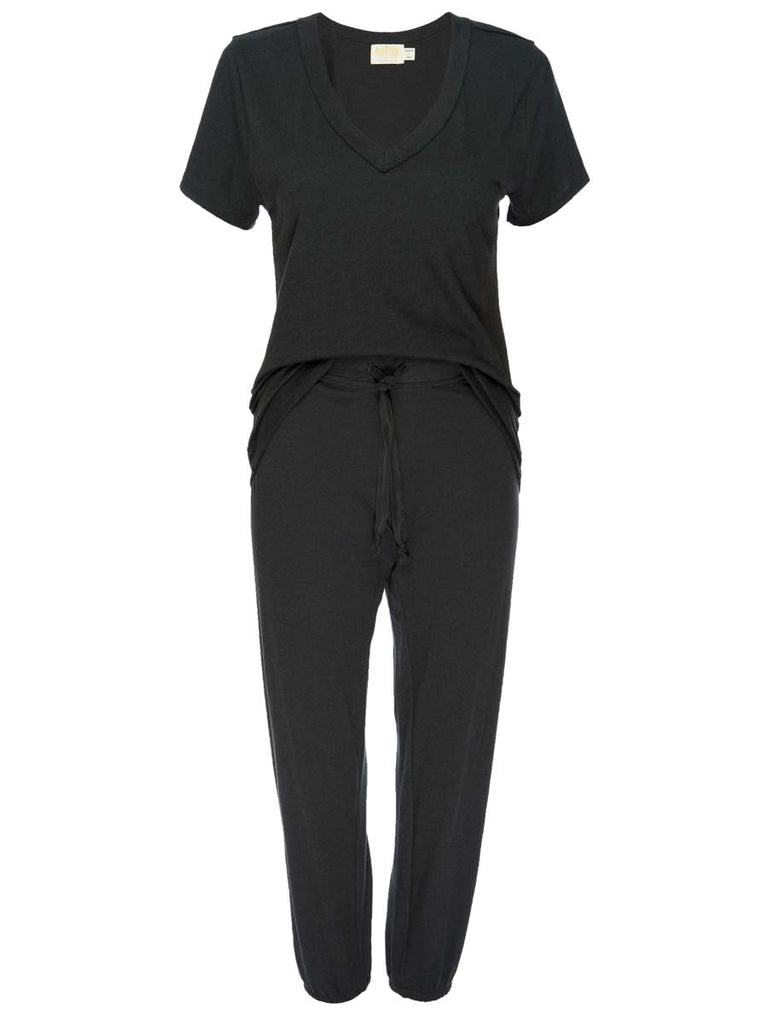Nation LTD Cozy Sleep Set in Black