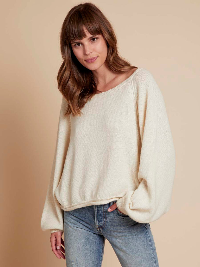 Lily Sweater in Creme
