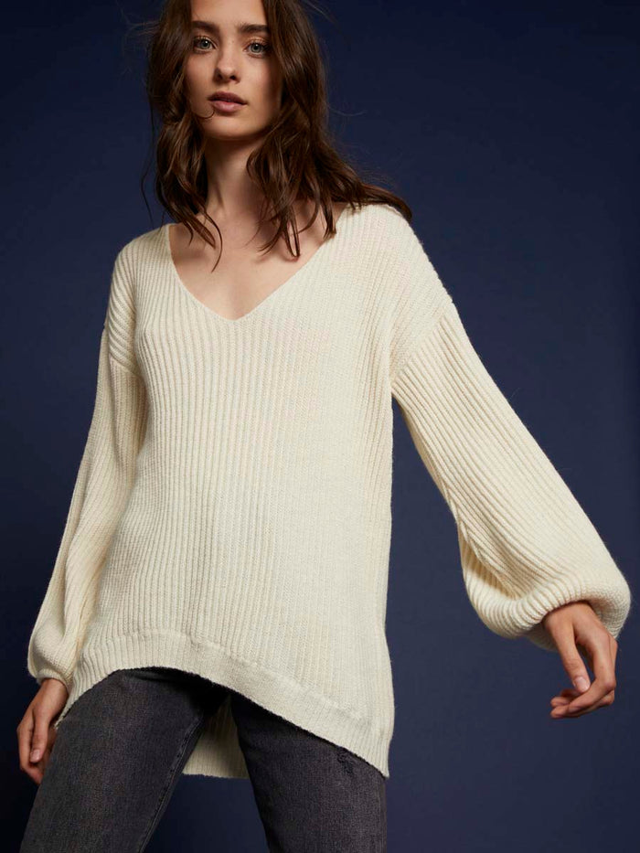 Nation LTD Dree Sweater in Creme