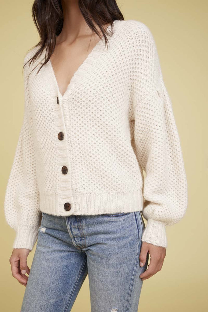 Nation LTD Fredy Cardigan in Creme