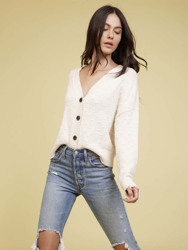 Nation LTD Madeline Cardigan in Cotton in Natural