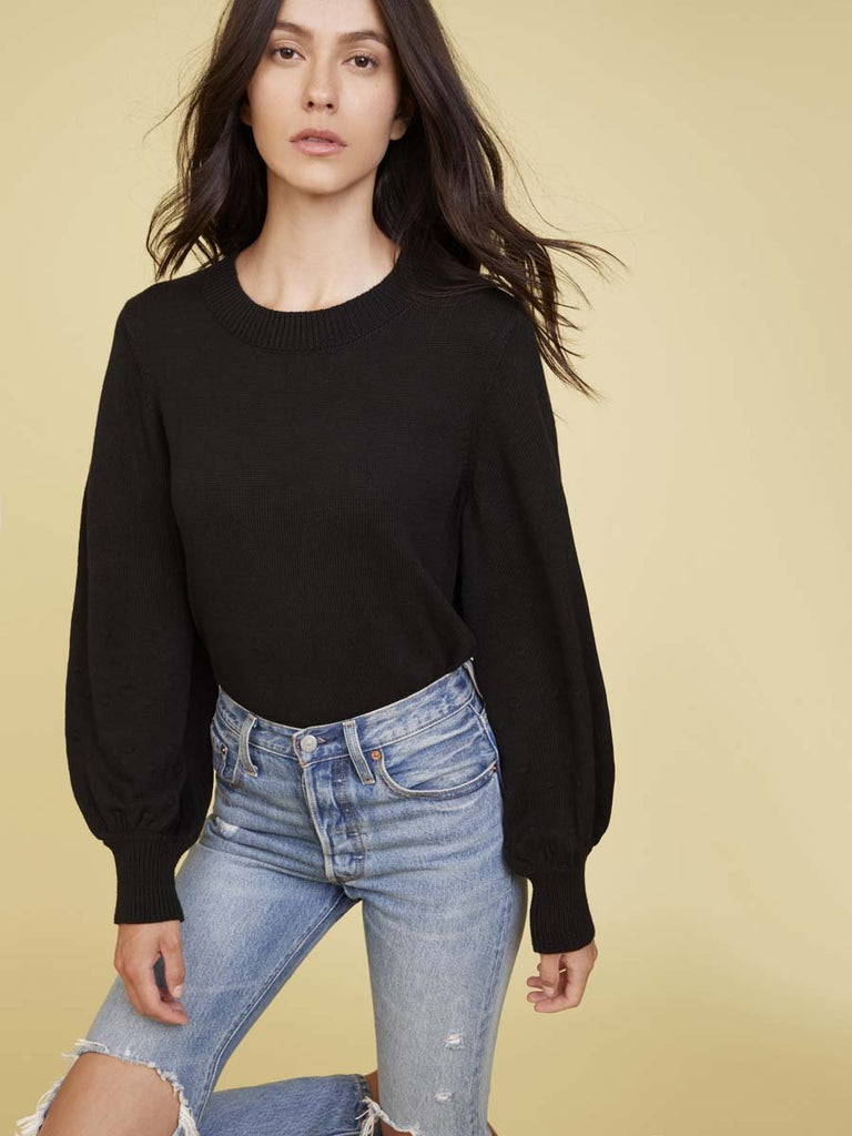 Nation LTD Ellie Sweater in Black