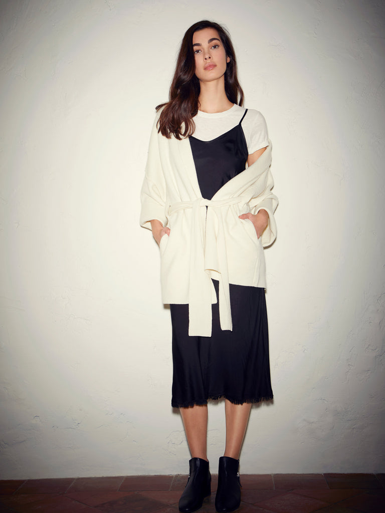 Nation LTD Hazel Wrap Coat in Creme