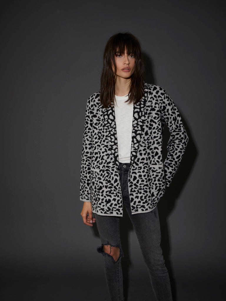 Nation LTD Kelly Blazer in Snow Leopard