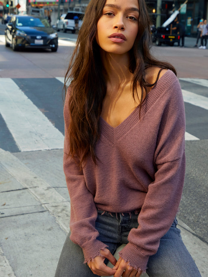 Nation LTD Senecca Sweater in Mauve
