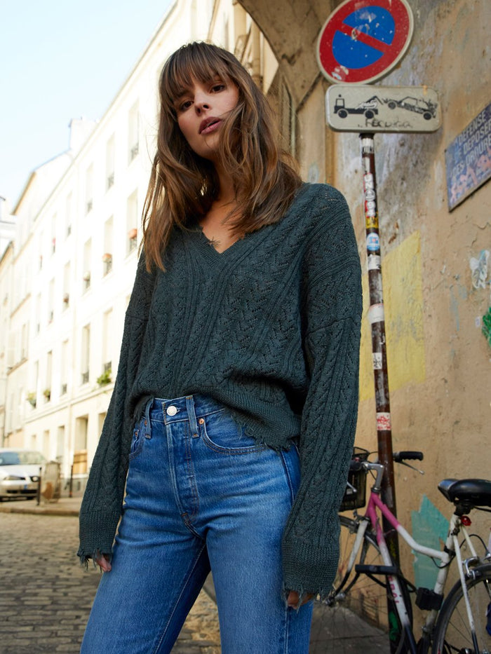 Nation LTD Noa Sweater in Kelp