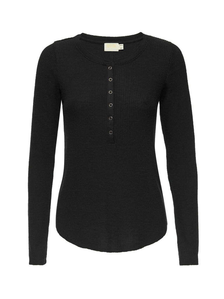 Nation LTD Adrian Top in Jet Black