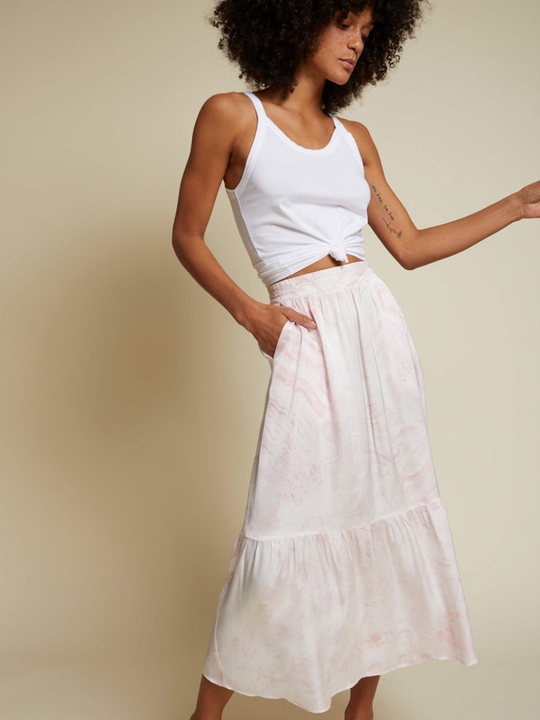 Nation LTD Alba Skirt in Pink Marble