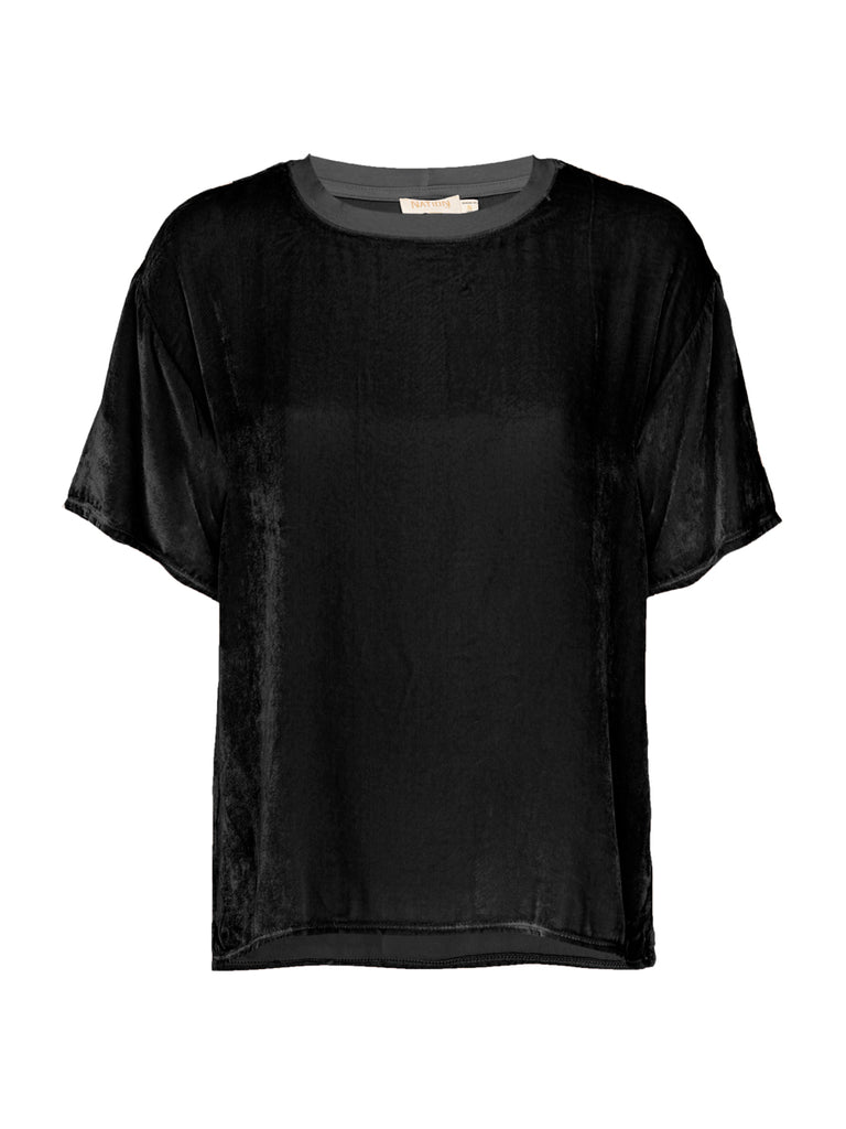 Nation LTD Allison Top in Velvet in Black