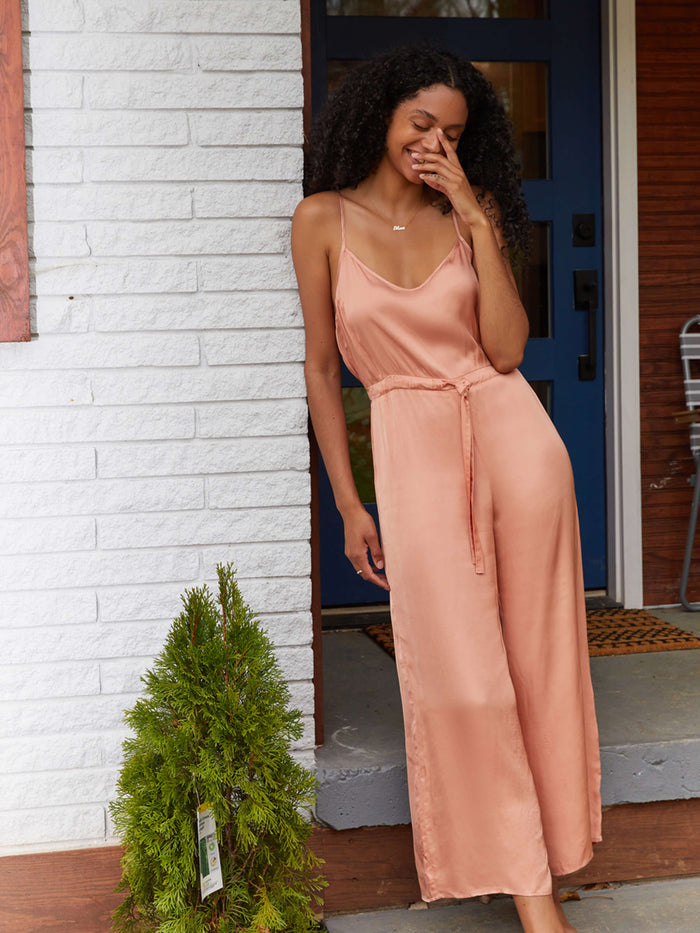 Nation LTD Aly Jumpsuit in Pink Glaze