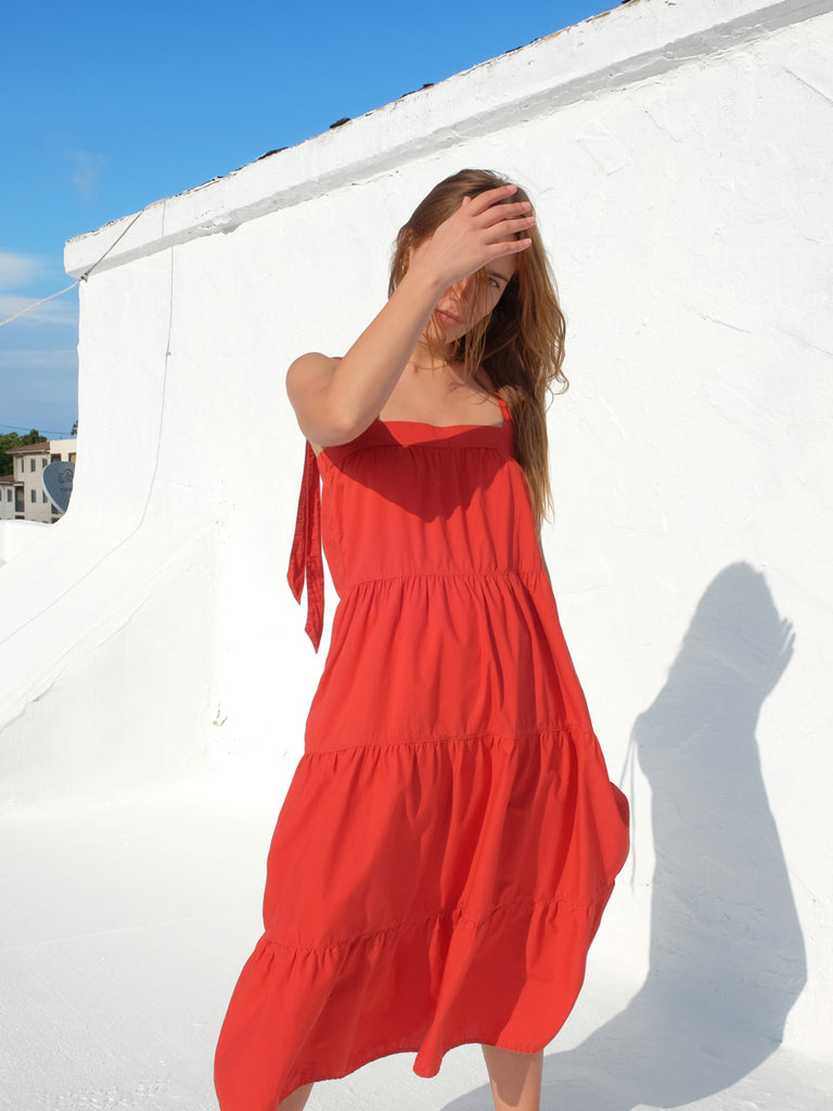 Nation LTD Amelia Dress in Vintage Red