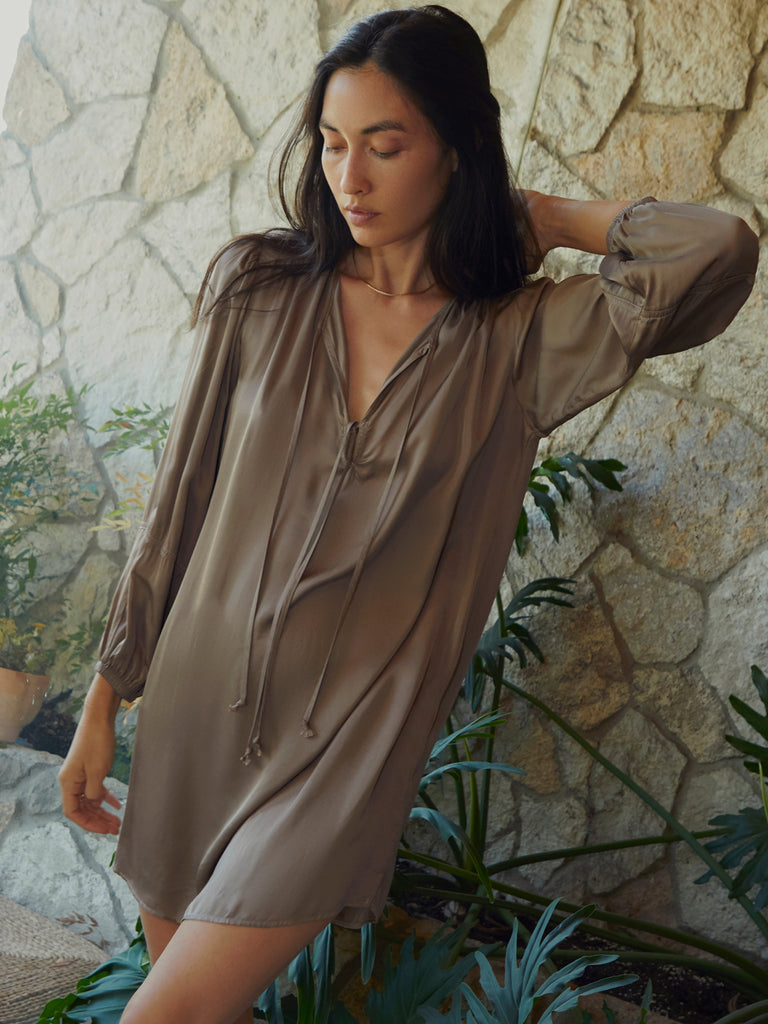 Nation LTD Babette Dress in Gravel