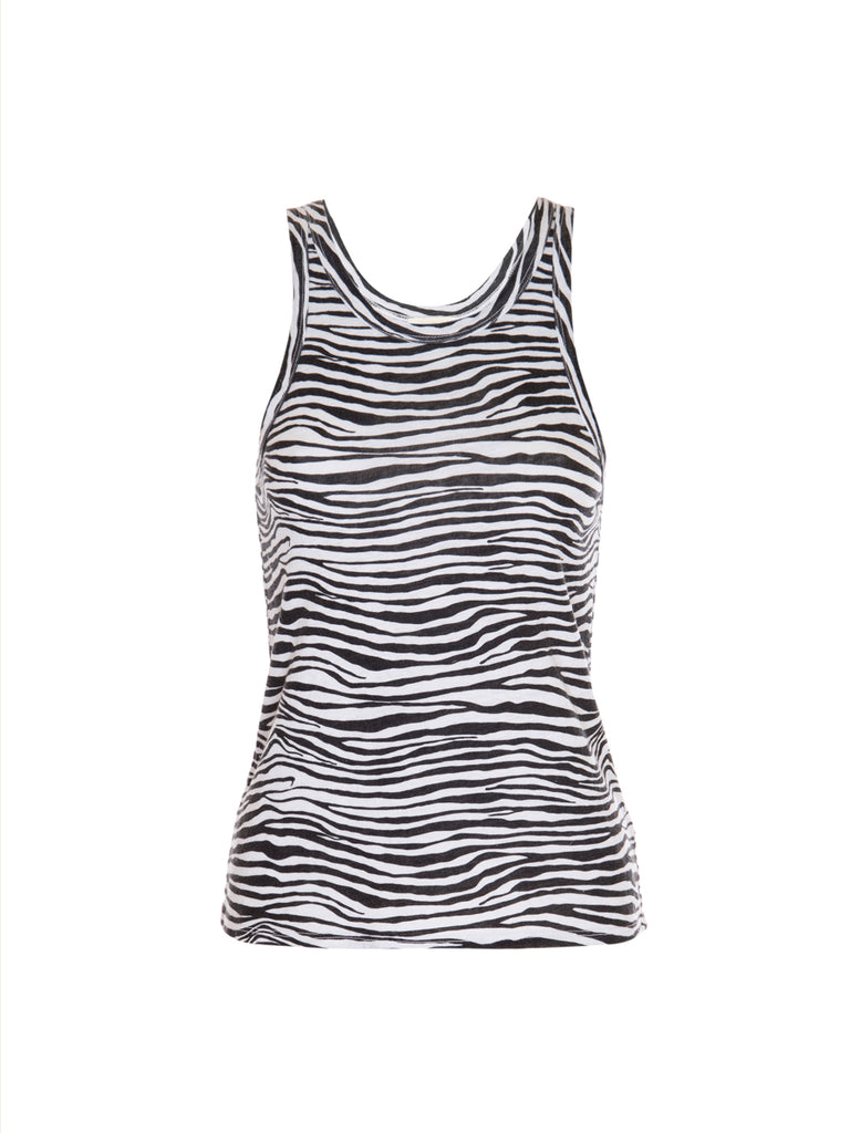 Nation LTD Birkin Tank in Recycled Cotton in Zebra
