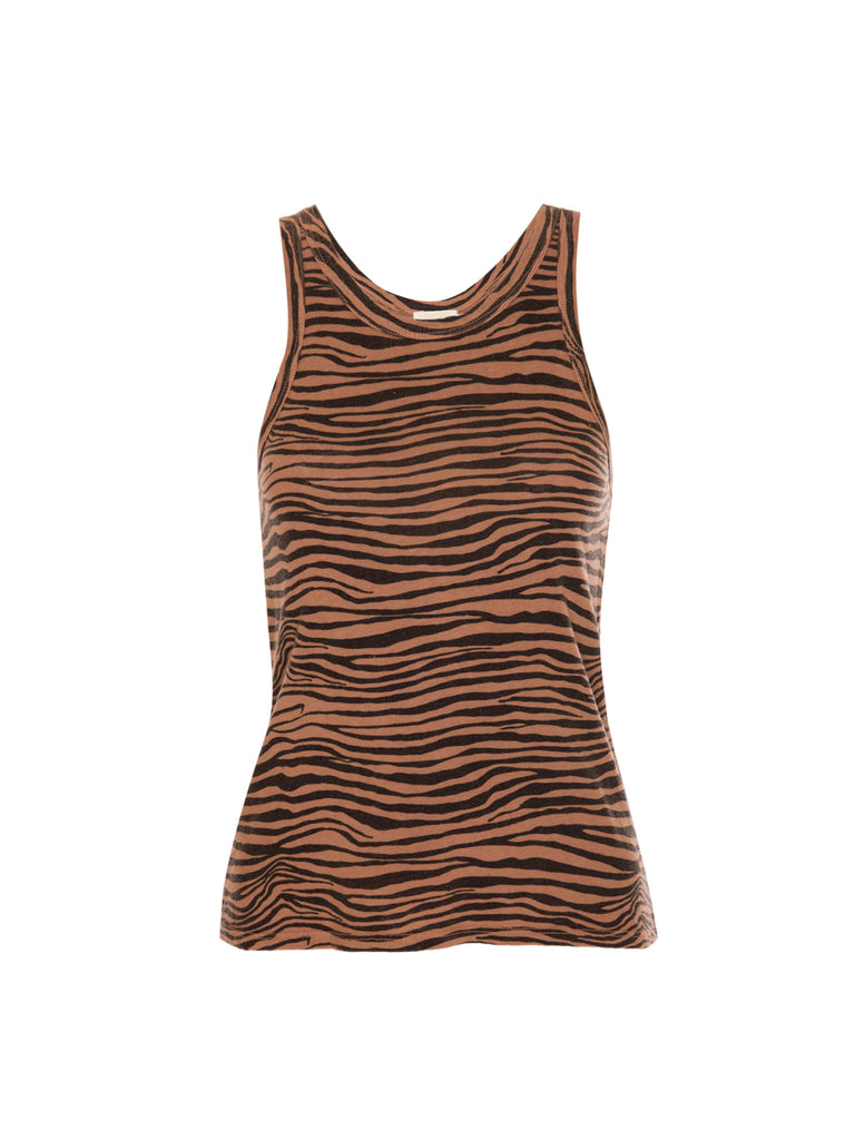 Nation LTD Birkin Tank in Recycled Cotton in Zebra Toast