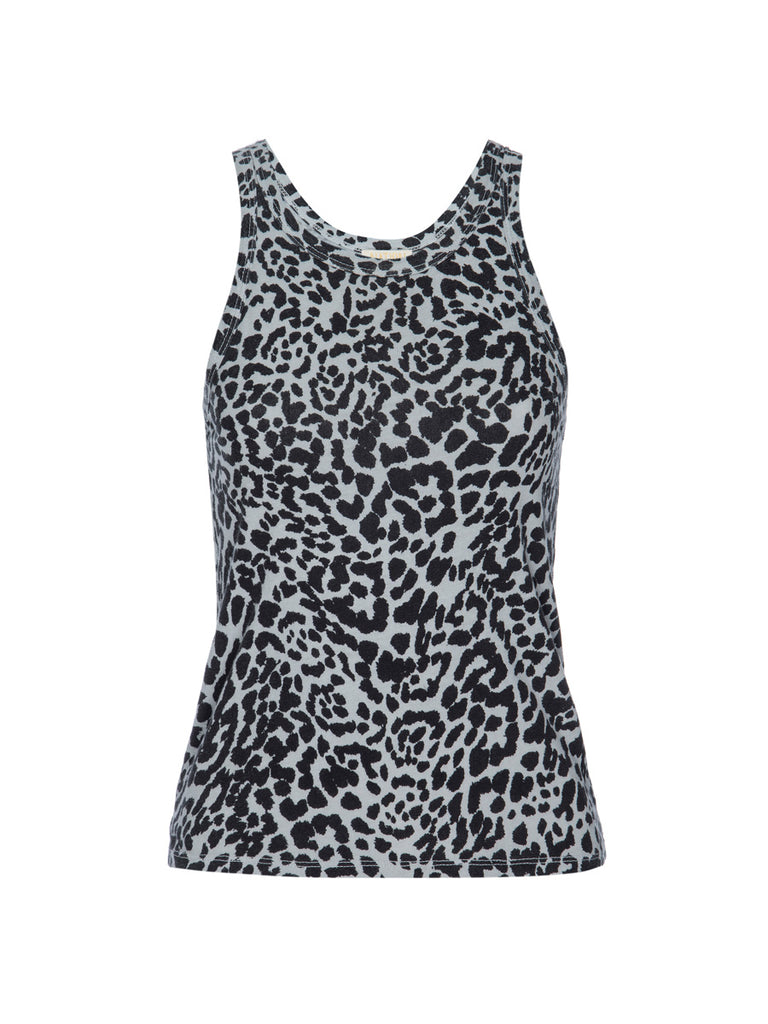 Nation LTD Birkin Tank in Recycled Cotton in Oat Cheetah