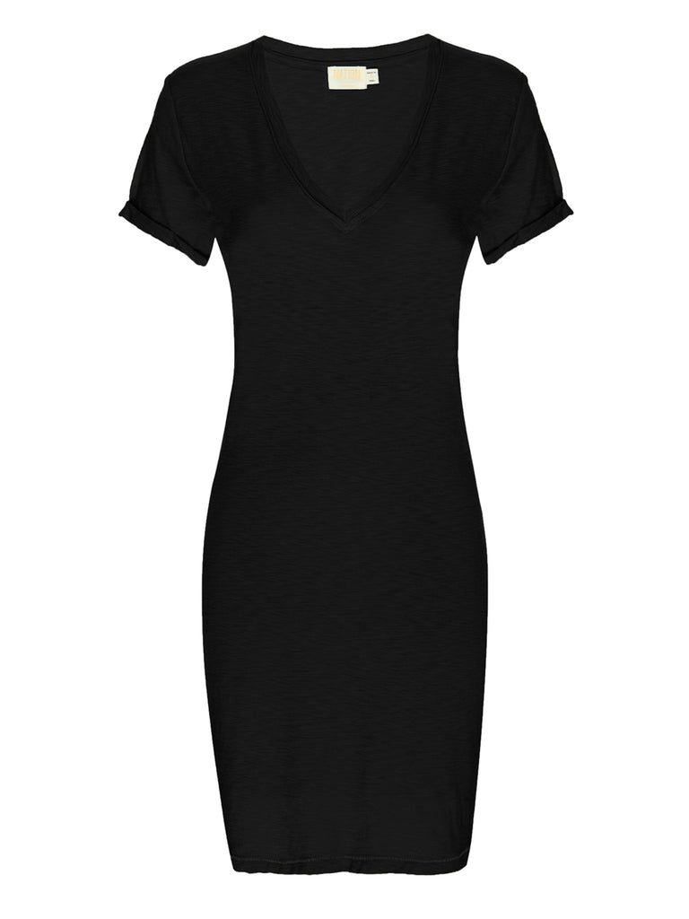 Nation LTD Blair Dress in Jet Black