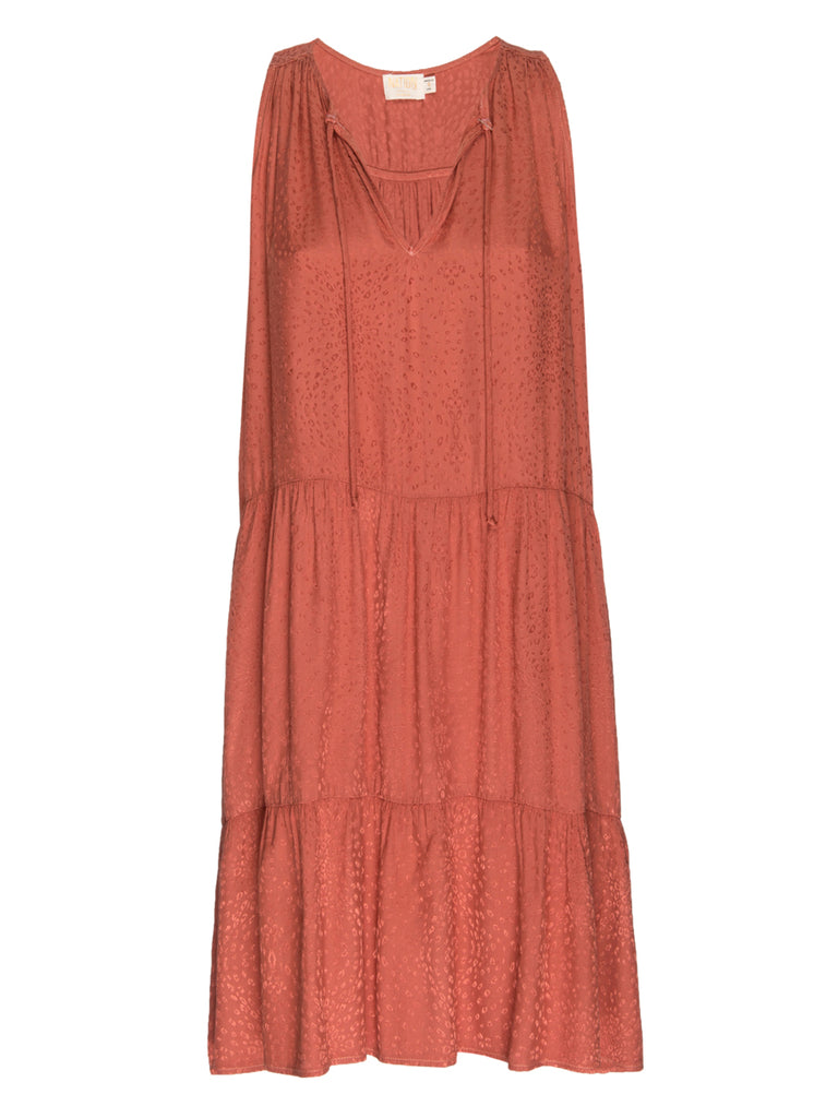 Nation LTD Blithe Dress in Salmon