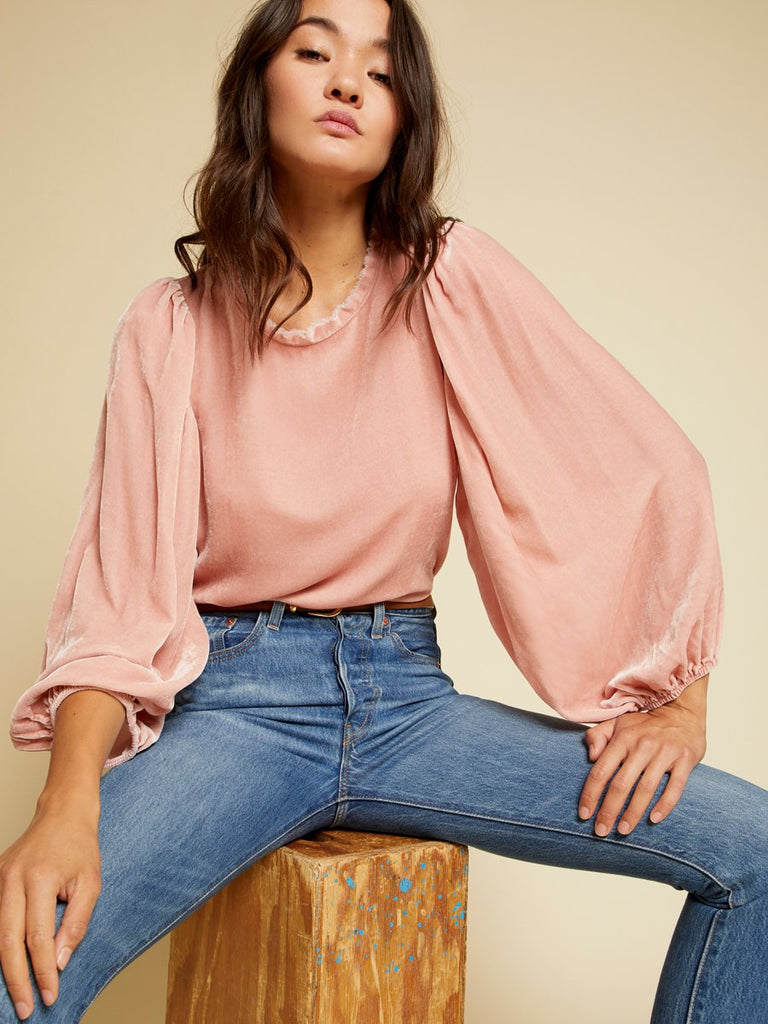 Nation LTD Cecily Top in French Pink