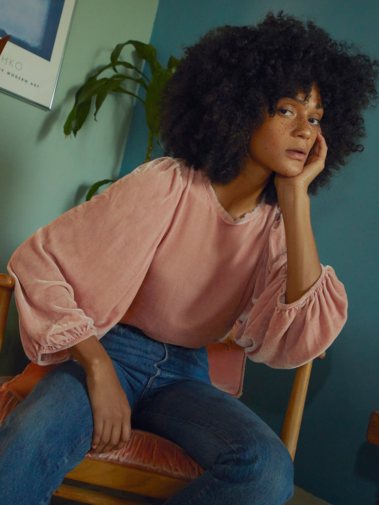 Nation LTD Cecily Top French Pink