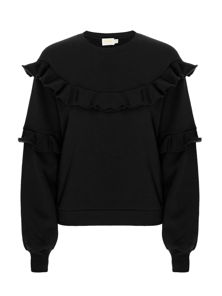 Nation LTD Cheyenne Sweatshirt in Jet Black