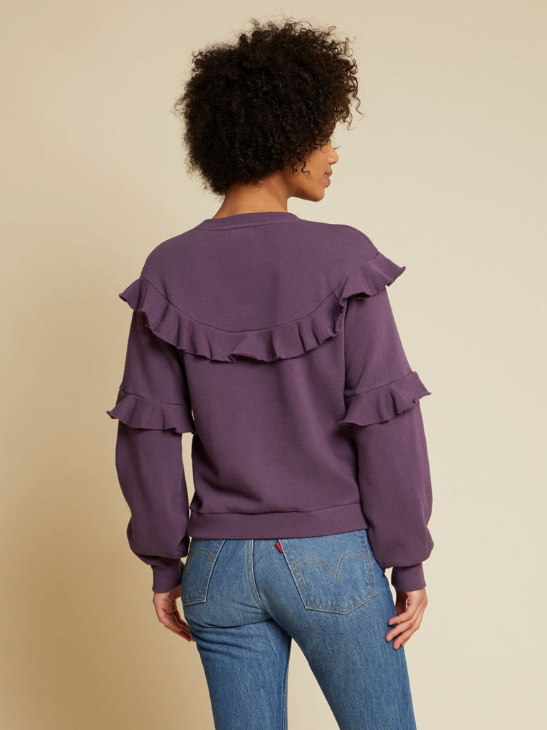 Nation LTD Cheyenne Sweatshirt in Purple Rain