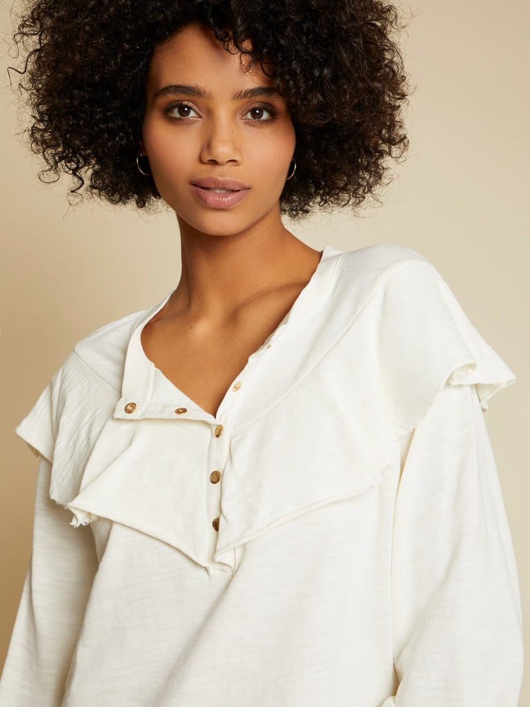 Nation LTD Christa Top in Off White