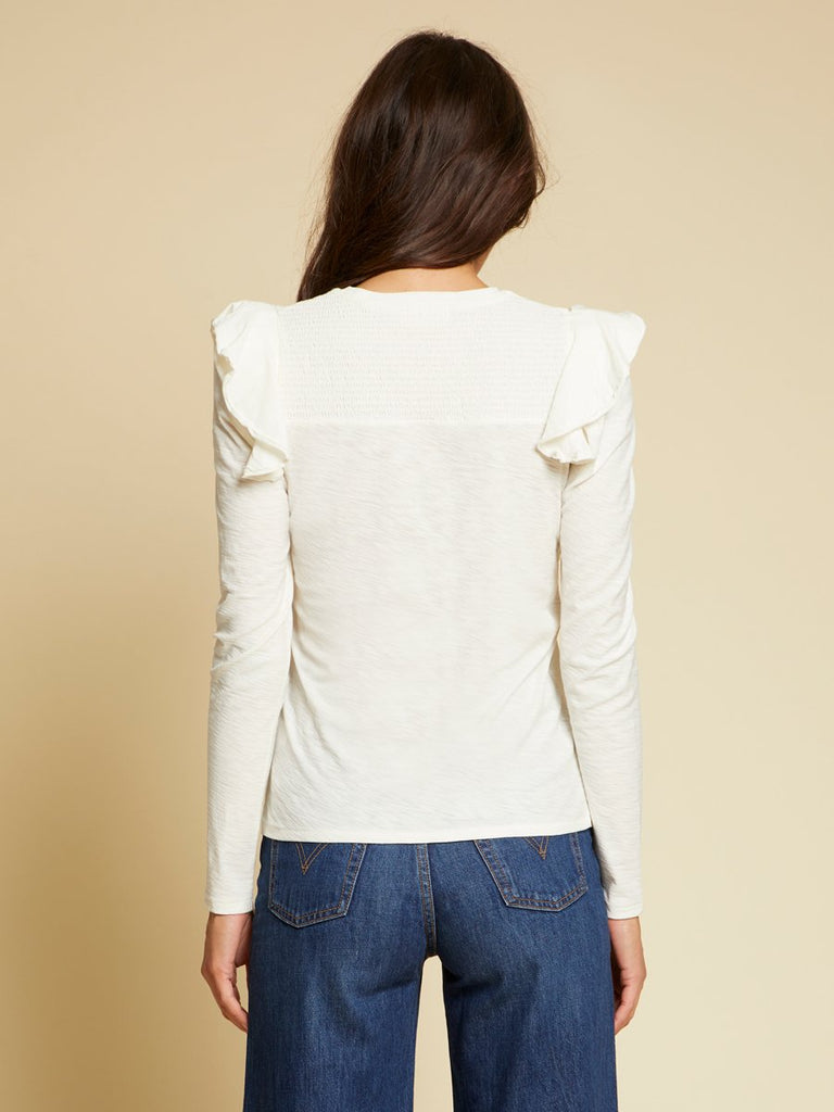 Nation LTD Dalila Long Sleeve in Off White