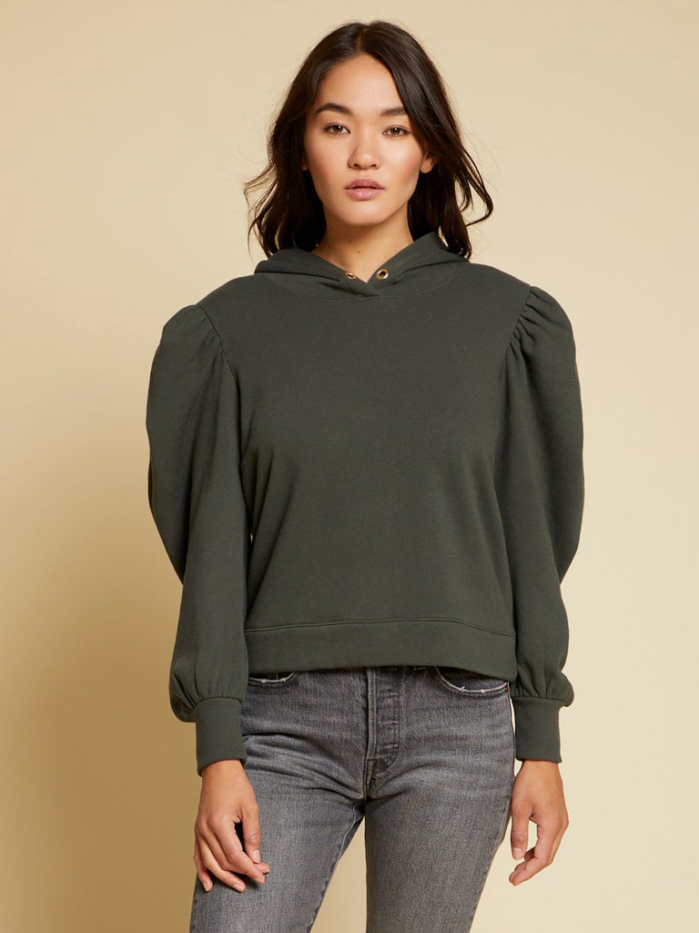 Nation LTD Davina Sweatshirt in Dark Olive