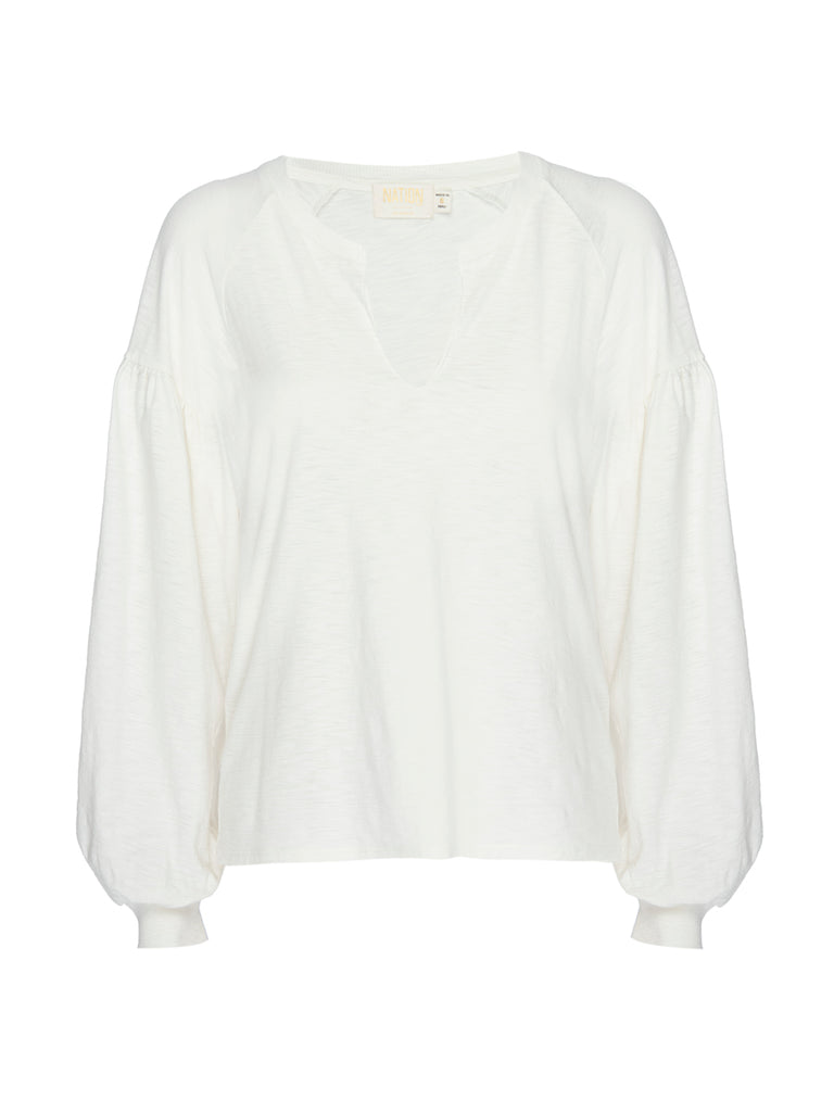 Nation LTD Devin Long Sleeve in Off White