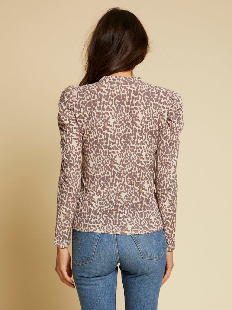 Nation LTD Evette Long Sleeve in Antique Leopard