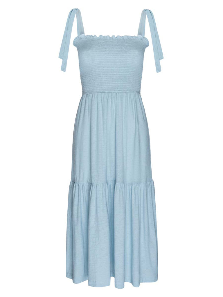 Nation LTD Farin Dress in Blue Skies