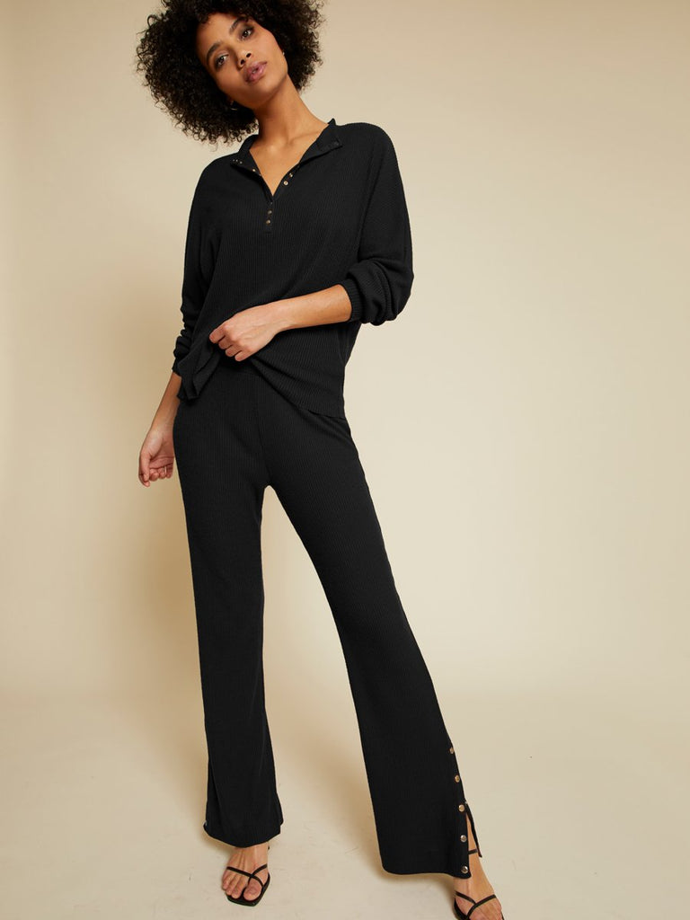 Nation LTD Franklin Pant in Jet Black