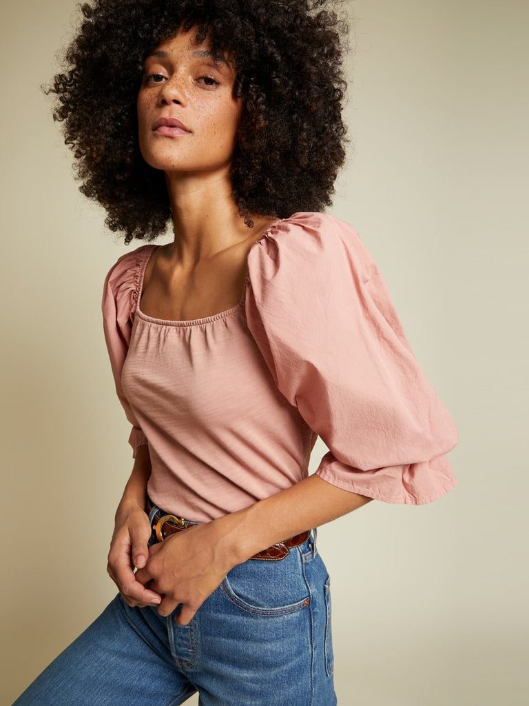Nation LTD Frida Top in Pink Glaze