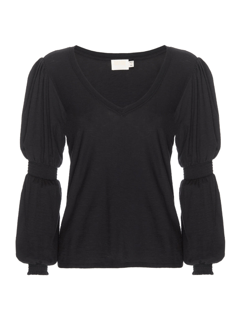 Nation LTD Gabriella Long Sleeve in Jet Black