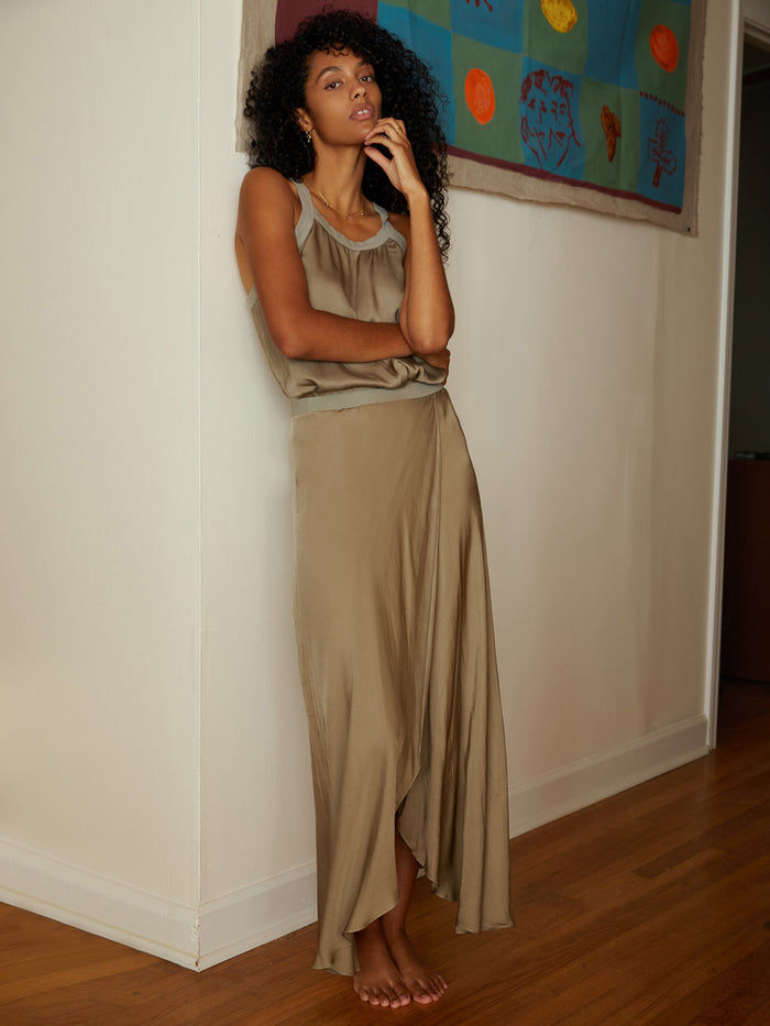 Nation LTD Giorgia Skirt in Dirty Martini