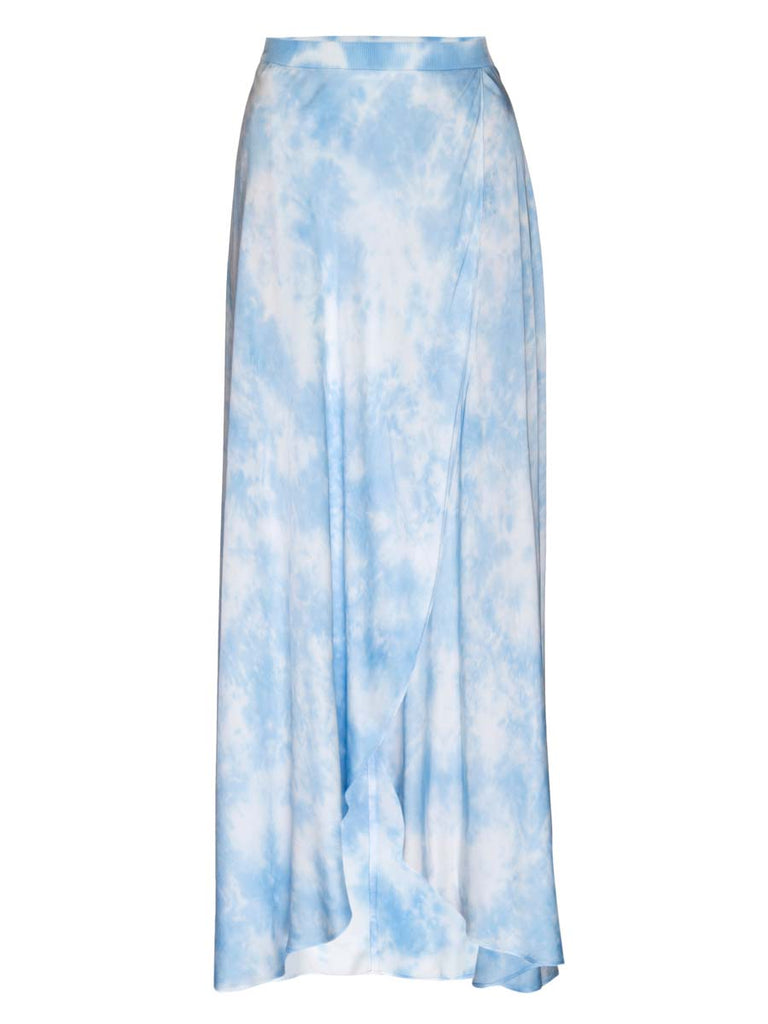 Nation LTD Giorgia Skirt in Blues Skies Tie Dye