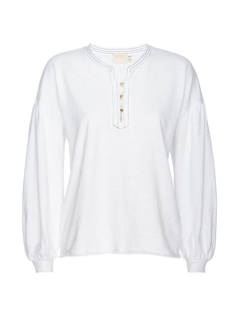 Nation LTD Gisella Long Sleeve in Optic White
