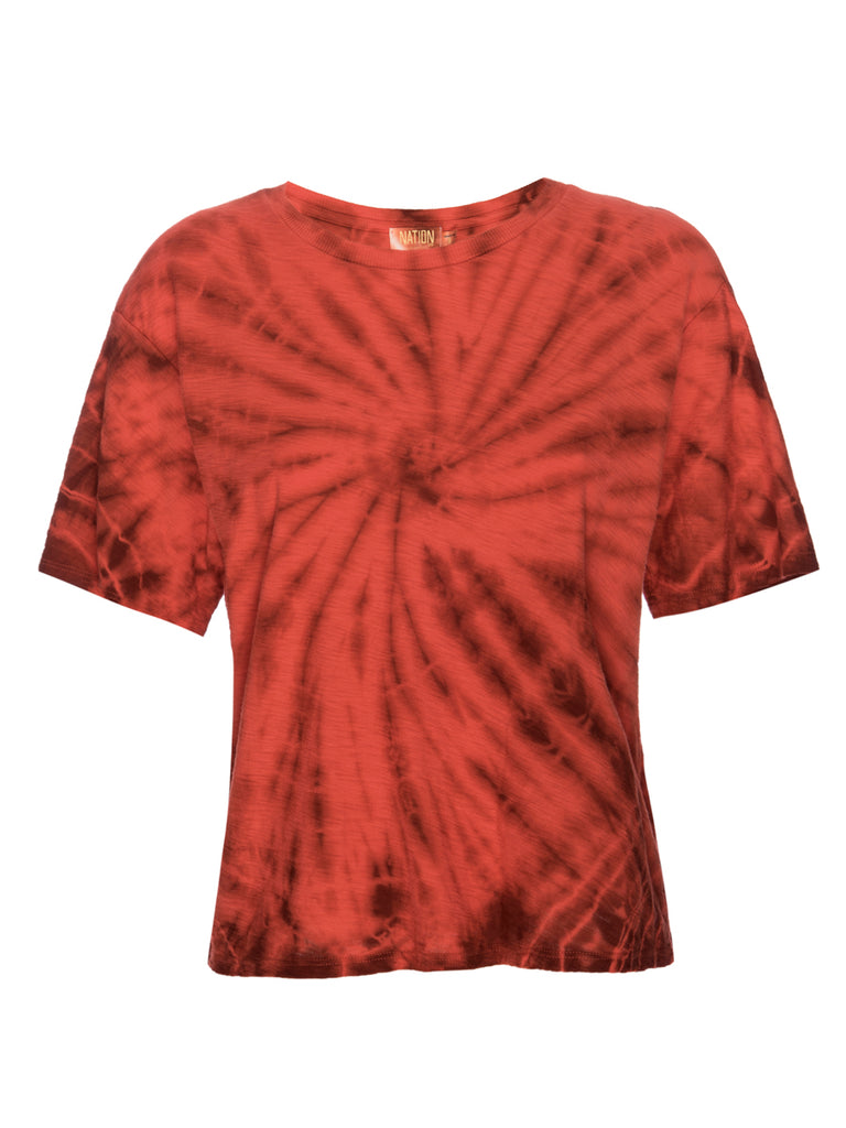 Nation LTD Jerri Tee in Chili Spiral