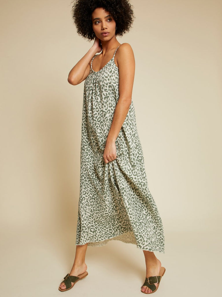 Nation LTD Lila Dress in Pine Leopard