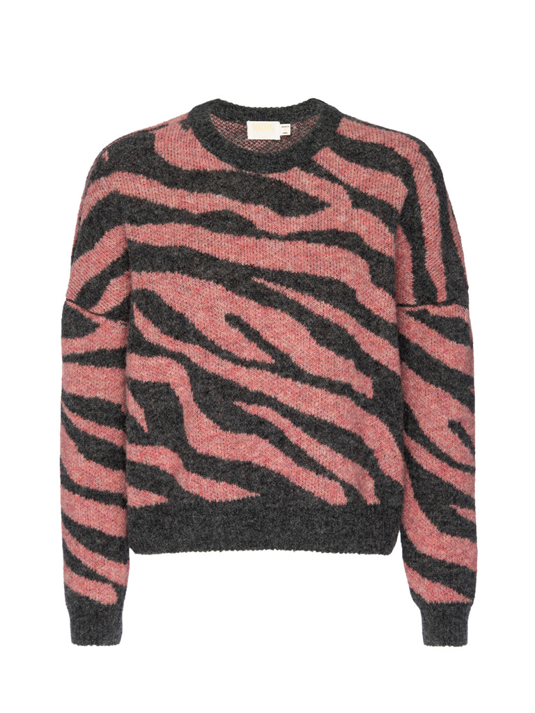 Nation LTD Lizzy Sweater in French Pink Zebra
