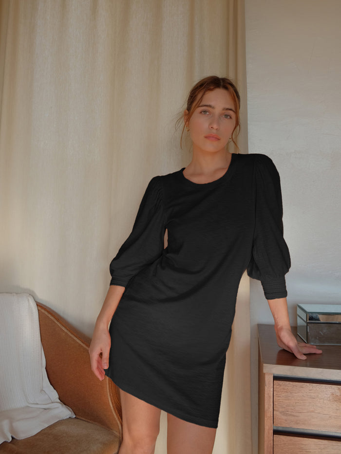 Nation LTD Loren Dress in Jet Black