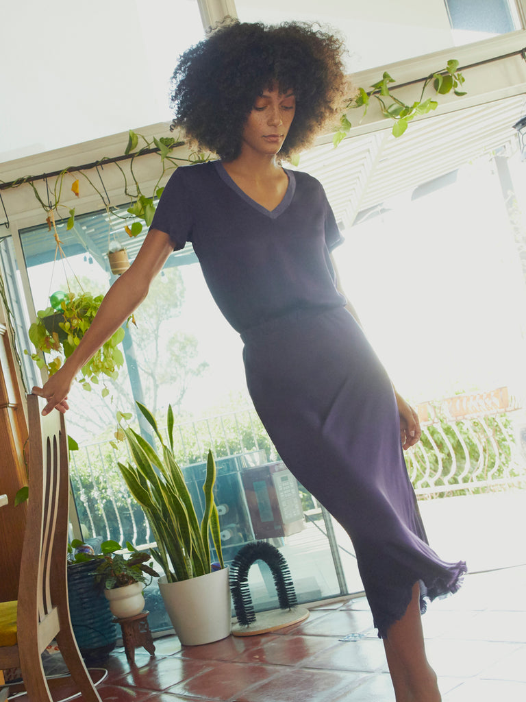 Nation LTD Mabel Skirt in Amethyst