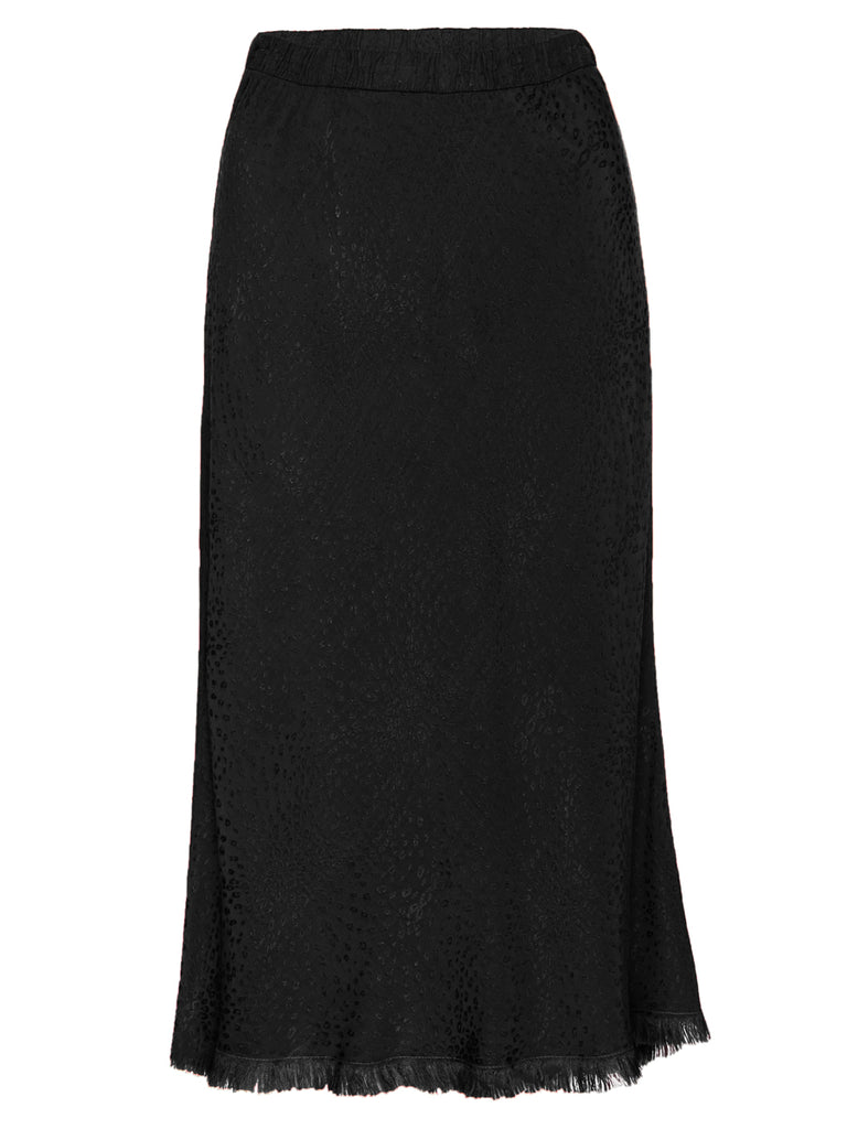 Nation LTD Mabel Skirt in Jacquard Sateen in Black