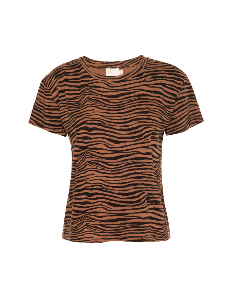 Nation LTD Marie Tee in Recycled Cotton in Zebra Toast