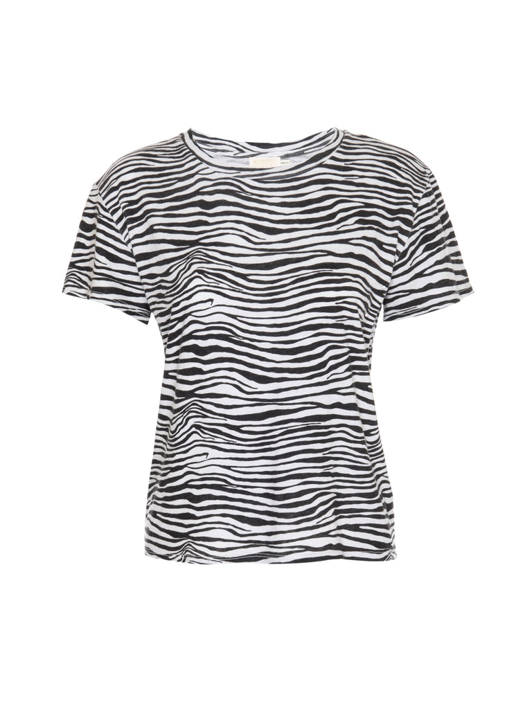 Nation LTD Marie Tee in Recycled Cotton in Zebra
