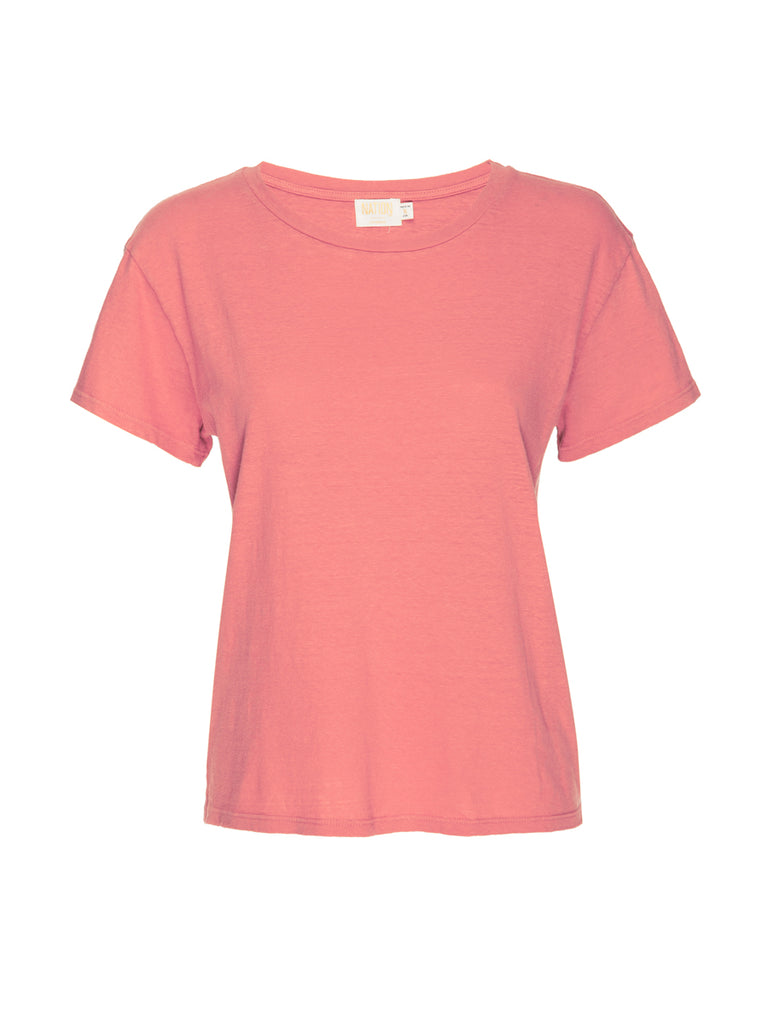 Nation LTD Marie Tee in Recycled Cotton in Flamingo