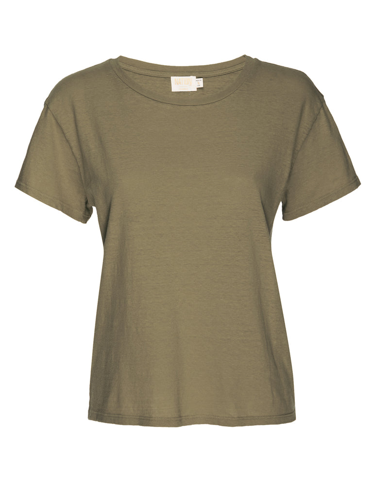 Nation LTD Marie Tee in Recycled Cotton in Moss